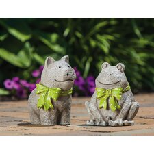 Pleasant Pals Pig and Frog Statue (Set of 2)