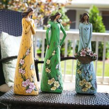 Gift of Love, Angel Blossoms Statue (Set of 3)