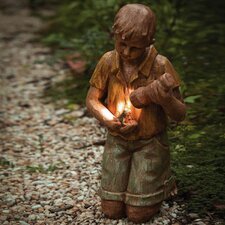 Boy with Flashlight Statue