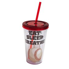 Eat Sleep Breathe Baseball Insulated Cup