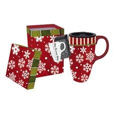 Believe In Snow Angels Travel Latte Mug