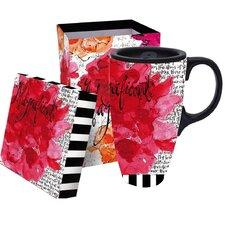Magnificent Floral Latte Travel Mug
