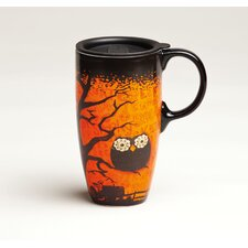 Happy Owl'oween Latte Travel Mug with Lid