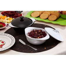 Ceramic Brie Baker with Spreader Set (Set of 2)