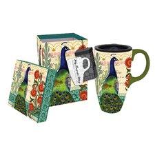 Proud Peacocks Latte Travel Mug