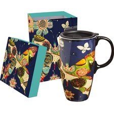 Garden Charm Latte Travel Mug
