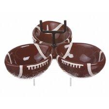 Brewsky Sports Ceramic 3 Piece Condiment Bowl Set