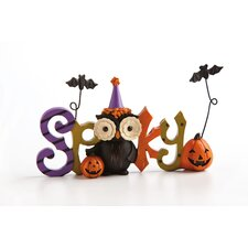 Happy Owl'oween Spooky Polystone Table Decor