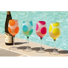 Polka Dots All Purpose Wine Glass (Set of 4)