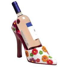 <strong>Cypress Home</strong> Floral Splash Resin High Heel Shoe Wine Holder