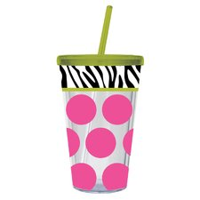 Zebra/ Dot Insulated Cup