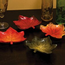 Harvest Gathering Ceramic Leaf Appetizer Plates (Set of 4)