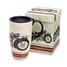 Motorcycle Madness Travel Latte Mug