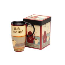 <strong>Cypress Home</strong> Perk Me Up! Latte Travel Mug