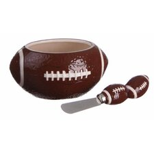 Brewsky Sports Ceramic Bowl with Spreader Set