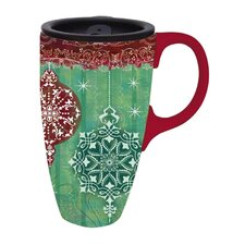 Holiday Elegance Latte Travel Mug