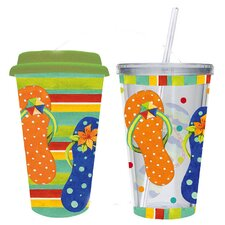 Sandy Days Hot and Cold To Go Gift Set