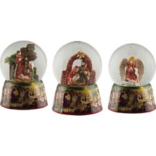 Christmas Nativity Musical Waterglobe (Set of 3)