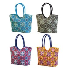 Calypso Beach Bag with Luxury Webbing Handle (Set of 4)