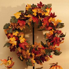 Autumn Inspirations Fall Bouquet Wreath with Glitter
