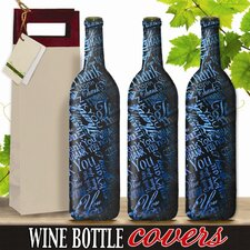 Thank You Wine Bottle Cover (Set of 3)