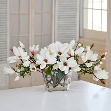Tree Magnolias in Glass Vase