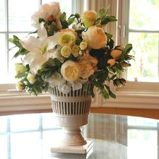 <strong>Jane Seymour Botanicals</strong> Vermeil Urn Mixed Centerpiece