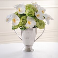 Orchid and Snowball Urn