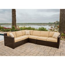 Metropolitan 5 Piece Lounge Seating Group with Cushions