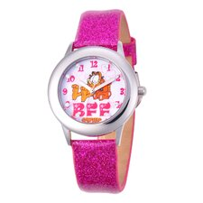 Tween Glitz Time Teacher Leather Strap Watch