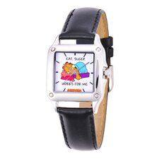 Women's Square Steel Leather Strap Watch