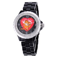 Women's Enamel Bracelet Strap Watch