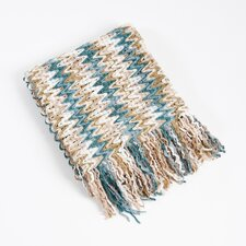 Knitted Chevron Design Throw