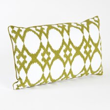 Madelyn Ikat Design Ribbed Pillow