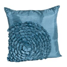 <strong>Saro</strong> Flower Polyester Pillow
