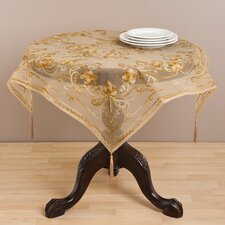 <strong>Saro</strong> Chenille Embroidered Table Topper