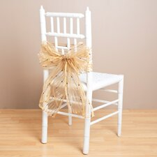 Sheer Fuzzy Stripes Chair Tie (Set of 2)