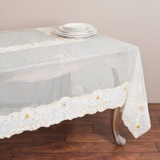 <strong>Saro</strong> Embroidered and Beaded Table Cloth