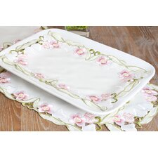 Embroidered and Cutwork Tray Cloth