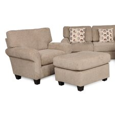 Ladd Arm Chair and Ottoman