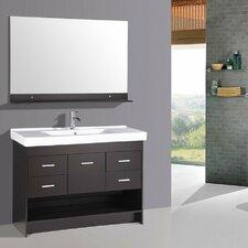 """48"""" Contemporary Single Ceramic Sink Bathroom Vanity Set"""