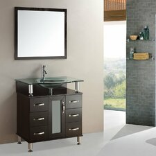 "36"" Modern Single Sink Bathroom Vanity Set"