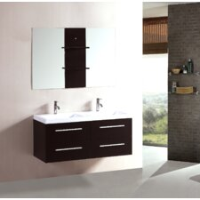 "48"" Floating Double Sink Bathroom Vanity Set"