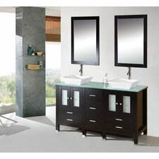 "Caius 60"" Double Sink Bathroom Vanity Set"