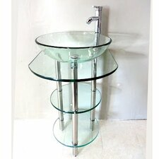 Pedestal Bathroom Vanity Set