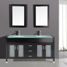 "63"" Double Sink Bathroom Vanity Set"