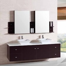 "72"" Double Bathroom Vanity Set"