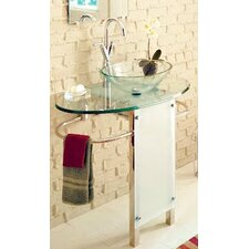 Vessel Sink Pedestal Bathroom Vanity Set
