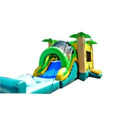 Commercial Grade Tropical Mega Wet/Dry Inflatable Bounce House and Slide Combo