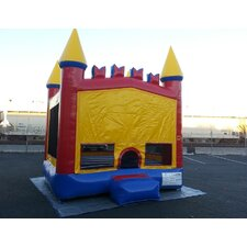 Commercial Grade Rainbow Inflatable Bounce House with Bricks and 4 Pillars